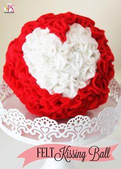 Felt and Styrofoam Kissing Ball