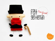 Felt {two-faced} gentleman ornament