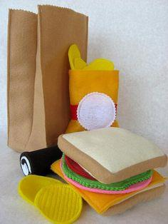 Felt lunch bag tutorial