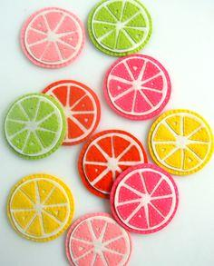 Mother's day gift idea - Citrus Coasters