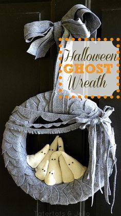 Make a Felt Ghost Wreath