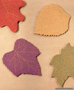 Cork Leaf Coasters