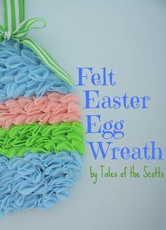 Felt Easter Egg Wreath