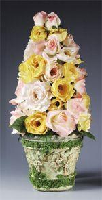 Colorful Roses Topiary