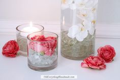 Submersed Faux Floral Centerpiece