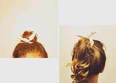wire hair bow DIY
