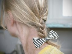 How To Make A Bow Hair Clip