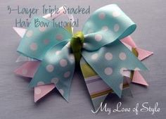 3-Layer Stacked Boutique Hair Bow