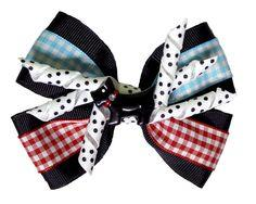 Wizard of Oz Gingham Hair-Bow