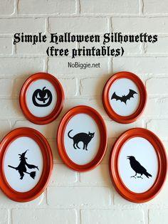 5 simple Halloween Silhouettes
