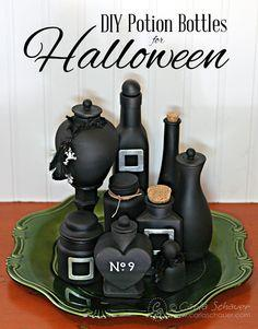 Decorate Halloween Potion Bottles