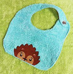embroidered baby bib hand towel