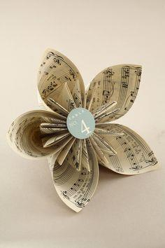 Book Page Origami Flower