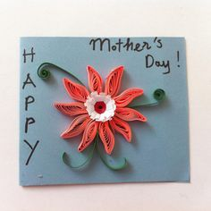 DIY Quilling Flower Card