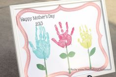 Mother's Day Handprint Flowers