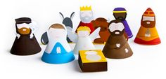 Print and build a nativity set