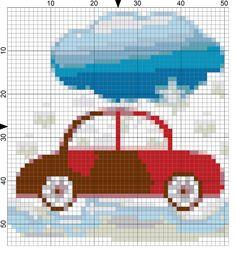 Winter Driving Needlepoint
