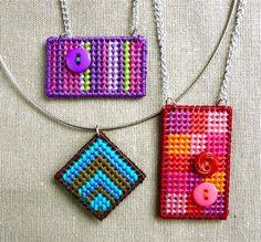 How to Make a Needlepoint Pendant