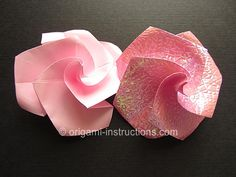 Origami Twisty Rose
