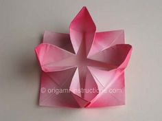 Completed Origami Lotus