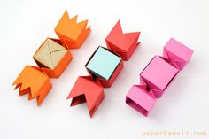 Square Origami Candy Box