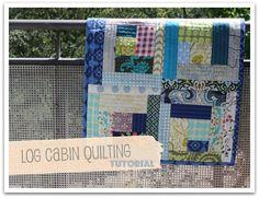log cabin quilting tutorial