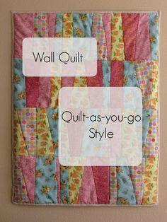 Quilt-as-you-go wall quilt