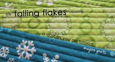 falling flakes quilt stocking