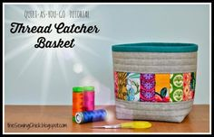 Quilt-as-you-go Thread Catcher