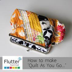 Quilt As You Go on purses