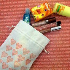 Rubber Stamped Fabric Bag