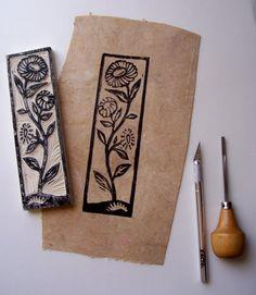 botanical rubber stamps