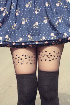 DIY Rubber Stamp Tights