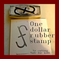 One Dollar Rubber Stamp