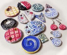 Stamped Clay Jewelry Elements