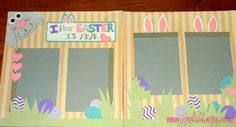 EASTER BUNNY SCRAPBOOK LAYOUT