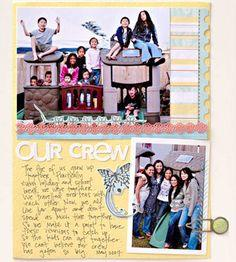 Family Scrapbook Layout Ideas