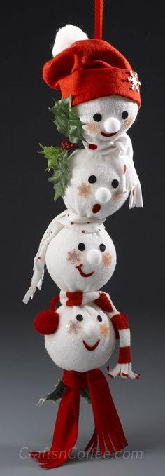 Adorable Snowman Swag made from a gym sock!