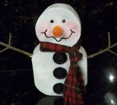 SNOWMAN from an old 2x4
