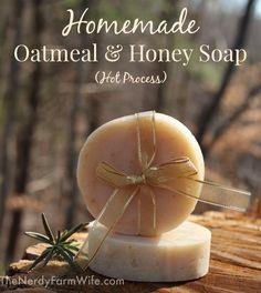Homemade Oatmeal & Honey Soap