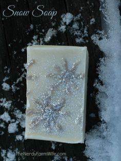 How to Make Snow Soap