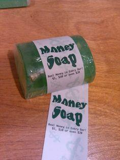 Stocking stuffer gift: Money soap