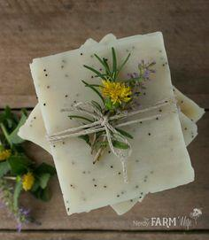 Dandelion Scrub Bar Soap Recipe