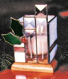 Free Stained Glass Christmas Votive