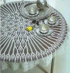Tablecloth Blooming Flower Crochet