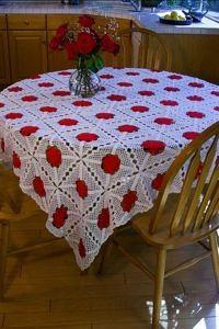 Free Easy Crochet Tablecloth Patterns For Beginners : Crochet Tablecloth Patterns - CraftFreebies.com