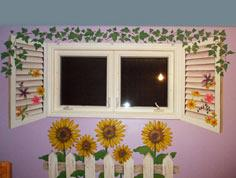 Painting Faux Shutters and Fence