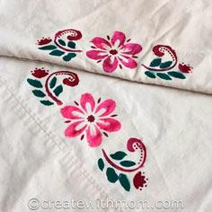 Fabric Painted Pillow Cases