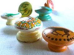 HAND PAINTED WOODEN KNOBS