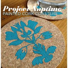 Painted Cork Coasters